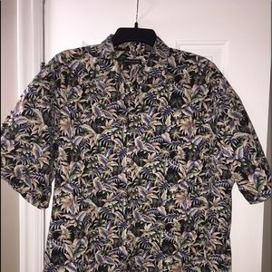 Pierre Cardin short sleeve button up casual shirt